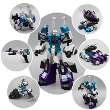 6 In 1 Transformation Robot Sixshot Assembled Action Figure Model Kids Toy Boy Gifts Deformation Robots