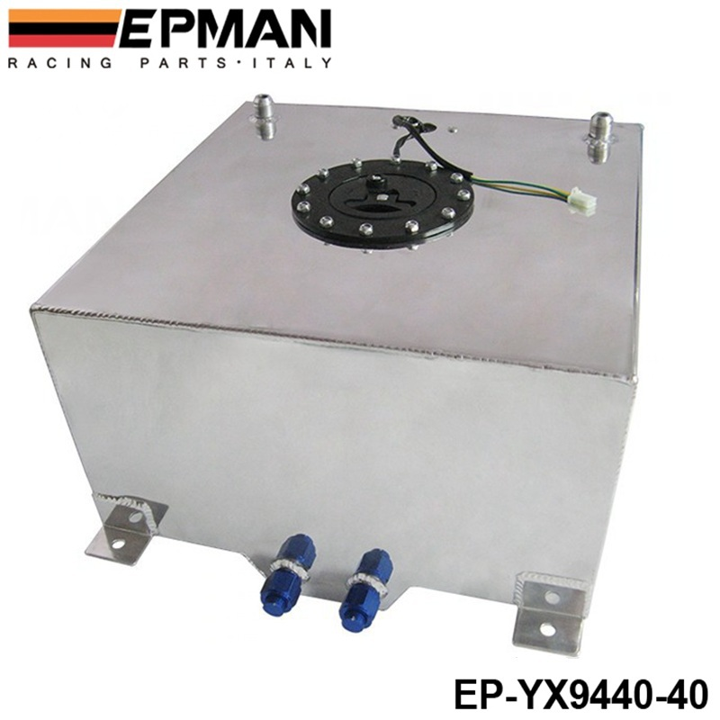 40L Aluminium FUEL CELL TANK polished FUEL LEVEL SENDER AN 10 outlets EP YX9440 40
