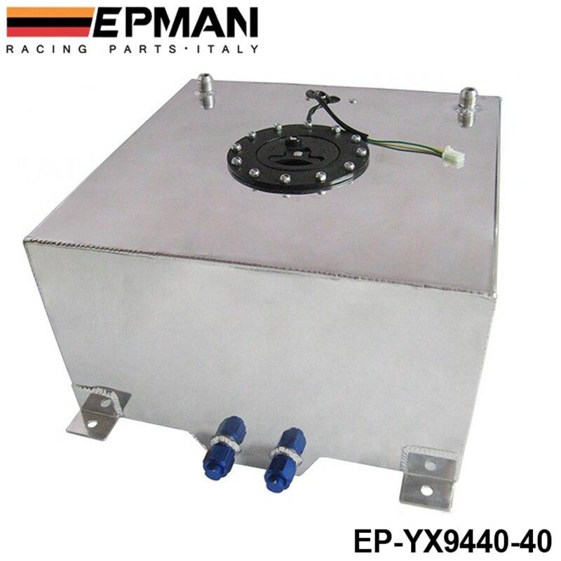 40L Aluminium pile à combustible réservoir poli émetteur de niveau de carburant AN-10 sorties EP-YX9440-40