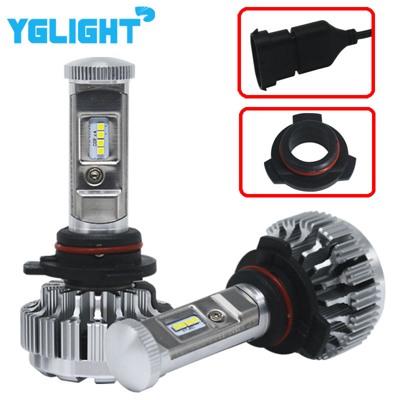 1Pair HIR2 9012 Led Auto Headlight Car Lamps Bulb Lihgt Car Led Headlight Kit Fog Light 7600LM 72W With Philip Led Chip 6000K