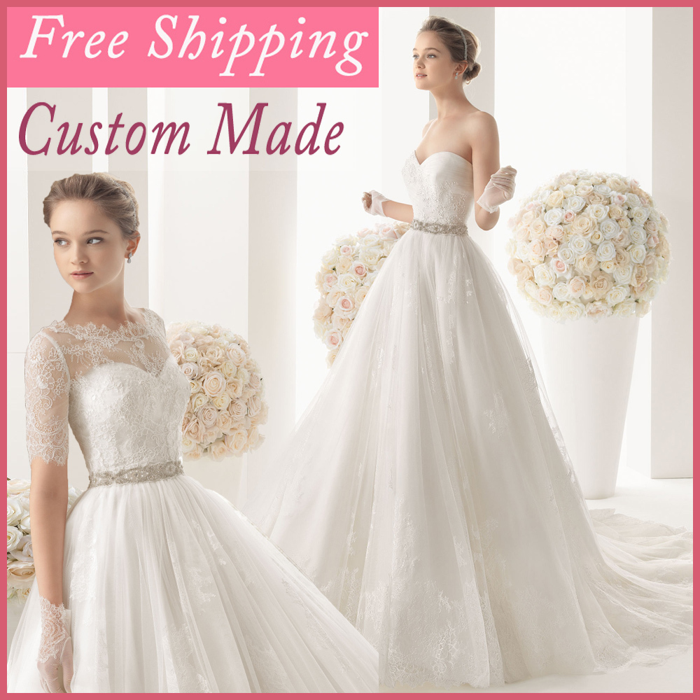 Princess Light Pink Lace Wedding Dress With Off The: 2016 Light Ivory Lace And See Through Wedding Dress With