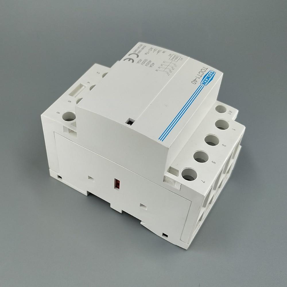TOCT1 4P 40A 220V 400V~ 50//60HZ Din rail Household ac contactor 4NO