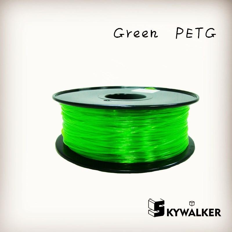 ФОТО Good quality petg 1.75mm 3d filament 1kg high petg 3d filament quality green color  3d printer filament petg plastic