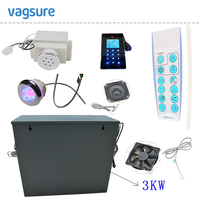 Freeshipping 3KW Powerful Steam Bath Sauna Generator With Brass Safety Valve And Auto Drain