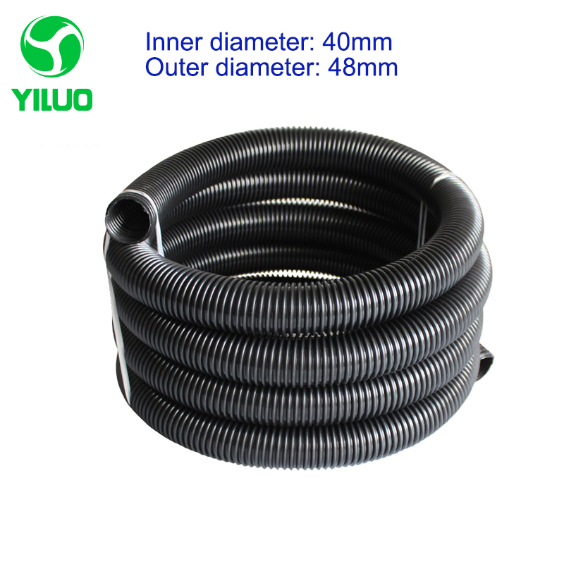 2.5m inner Diameter 40mm Black hose with High Temperature Flexible EVA vacuum cleaner Hose of industrial Vacuum Cleaner