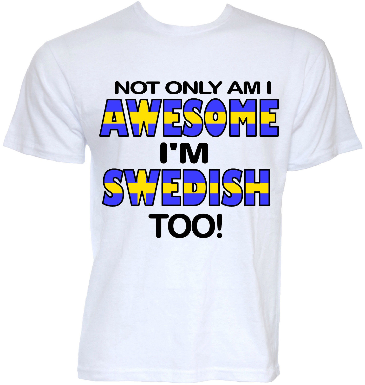 MENS FUNNY COOL NOVELTY SWEDISH SWEDEN FLAG SLOGAN T-SHIRTS JOKE GIFTS PRESENTS Short Sl ...