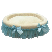 New luxury princess pet bed beautiful lace round exquisite cradle comfortable dog sofa