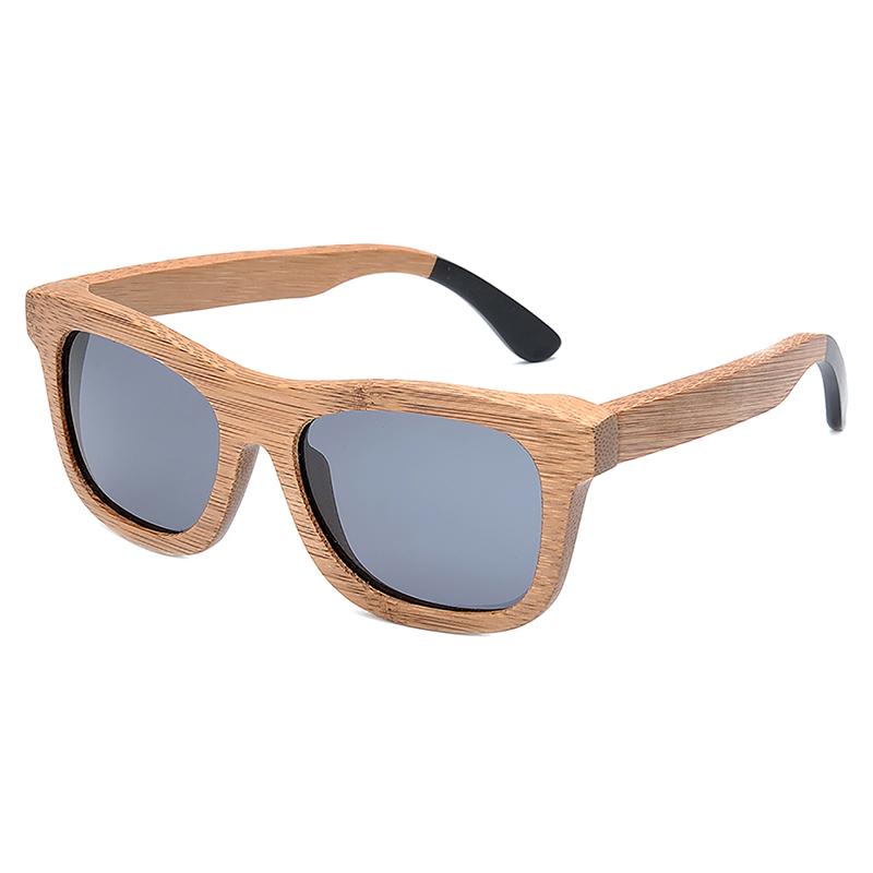 BG007a-Czc-Bamboo polarized Sunglasses for  women and mens retor style  (4)
