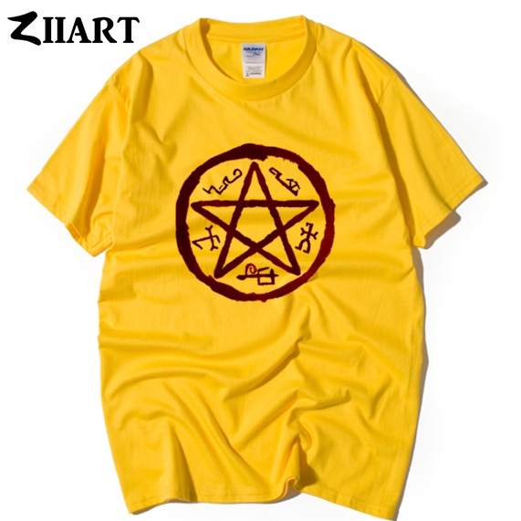 Supernatural Demon Symbols Devils Trap Symbol Couple Clothes Man