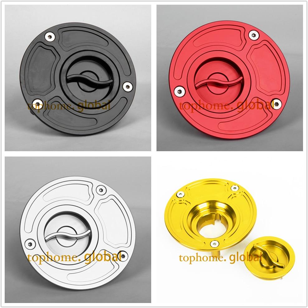 Real Carbon Fiber Red R6 Logo Gas Tank Fuel Cap Cover Guard 01-18 YZFR6//YZFR6S