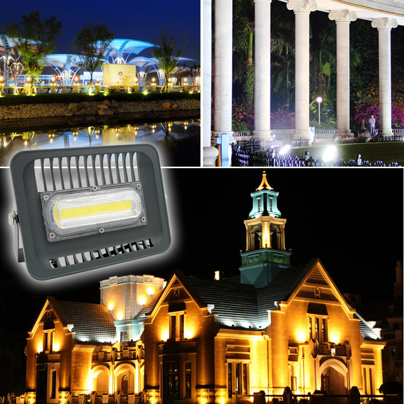 Image 5 - LED COB Flood Light 30W 50W 100W  IP65 AC 220V Smart IC COB Spotlight Outdoor Wall Lamp Cold White Warm White Ship from CN ES RU-in Floodlights from Lights & Lighting