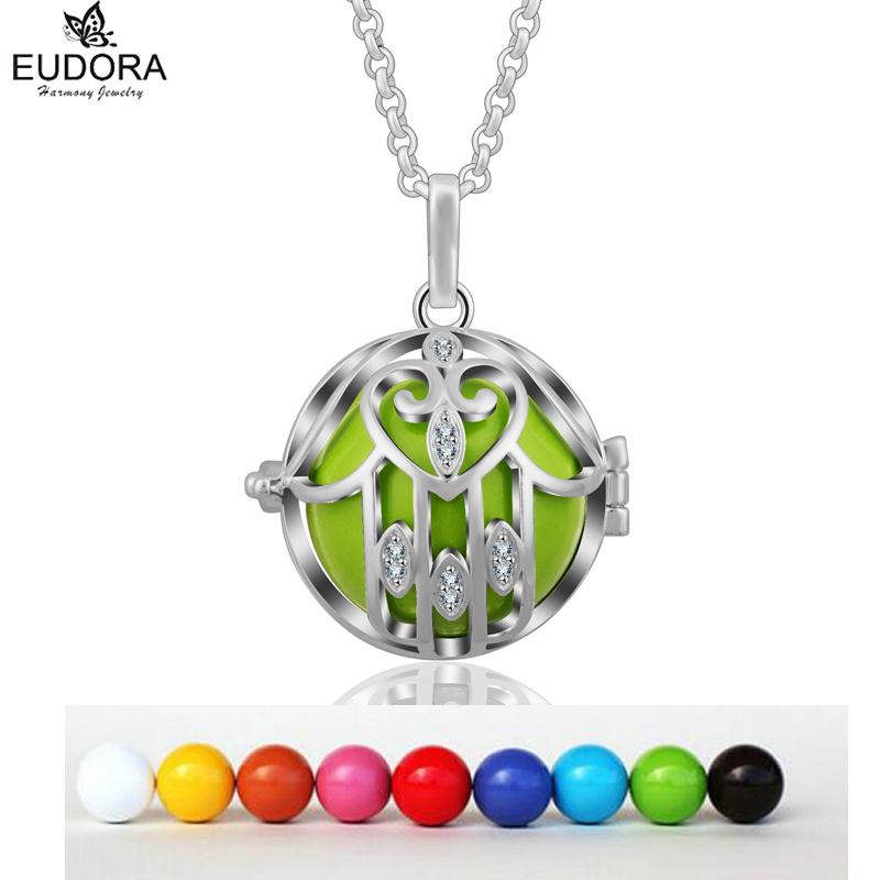 Eudora Harmony Ball Baby Angel Caller 2018 Special Design Locket Cage Pendant Floating Bola Aromatherapy Locket Pendant K171N20