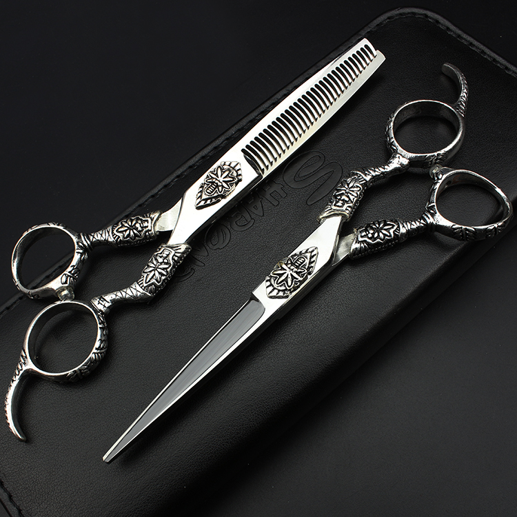 SHARONDS 6 inches chosen and comforts haircut scissors set  barber scissors and hairdressing tool 3 models signed tfboys jackson autographed photo 6 inches freeshipping 6 versions 082017 b