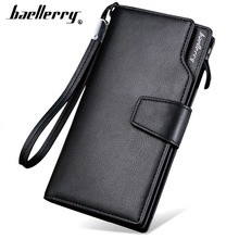 2019 Baellerry Men Wallets High Quality Long Style Card Holder Male Purse Zipper Large Capacity Brand PU Leather Wallet For Men hello kitty large capacity long purse high quality pu lady card wallet gift for girlfriend