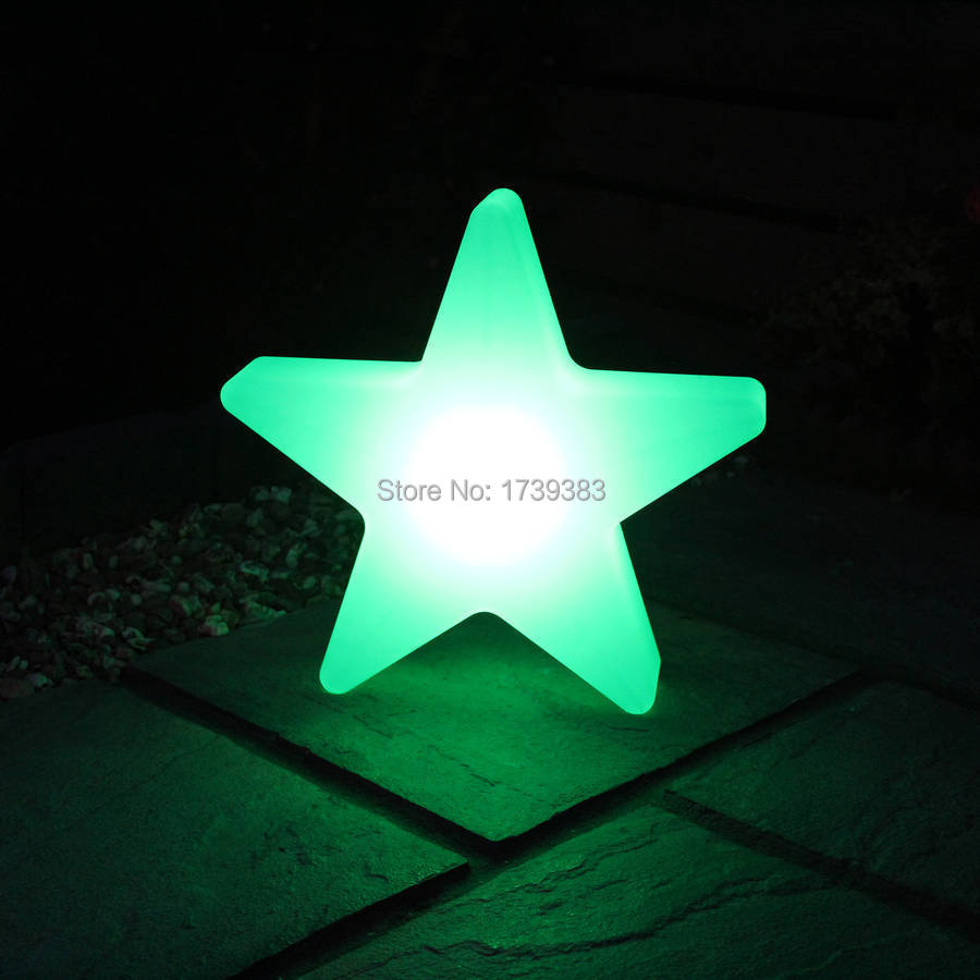 46*46*12cm PE rotational molding LED Star Glow Light Multi Colour ,Five-pointed star LED lamp for Christmas & Holiday Decoration