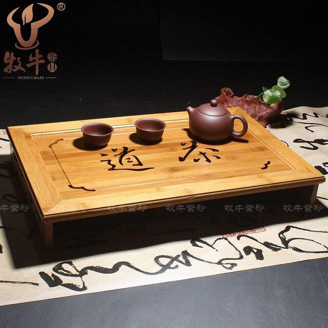 Тип бамбука резьба чай классический натурального бамбука чайный поднос чай кунг-фу чайный сервиз смешанная серия