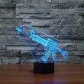 Creative Gifts Gun Lamp 3D Deco Vision Table Lampara Led USB 7 Colors Changing Baby Sleeping Luminarias Night Light Dropshipping