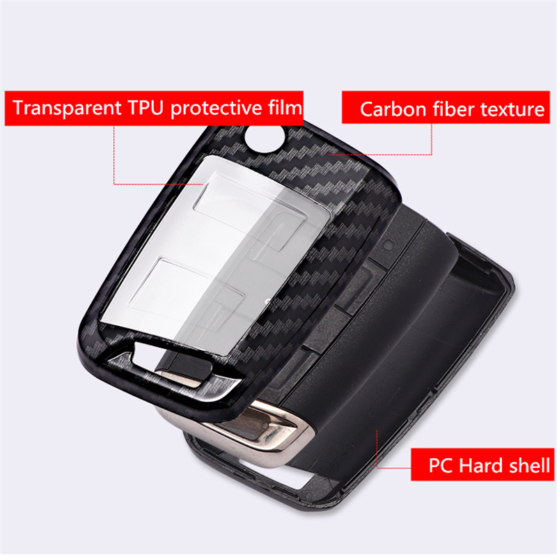 Image 5 - Carbon fiber+ PC Key Case Cover For VW Polo Golf 7 Tiguan for Skoda Octavia Kodiaq Karoq for SEAT Ateca Leon Ibiza 2015 2016-in Key Case for Car from Automobiles & Motorcycles