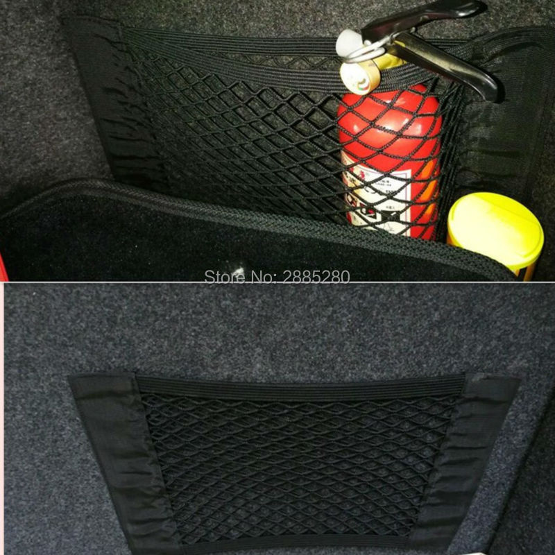 car trunk net luggage storage Accessories FOR renault megane 2 3 duster/logan/captur/2016 laguna 2 clio fluence kadjar-in Car Tax Disc Holders from Automobiles & Motorcycles