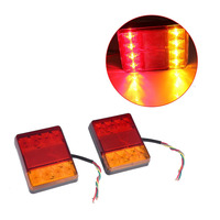 New 2Pcs 8 LEDS DC 12V Waterproof LED Car Rear Tail Light Lamps For Van Truck