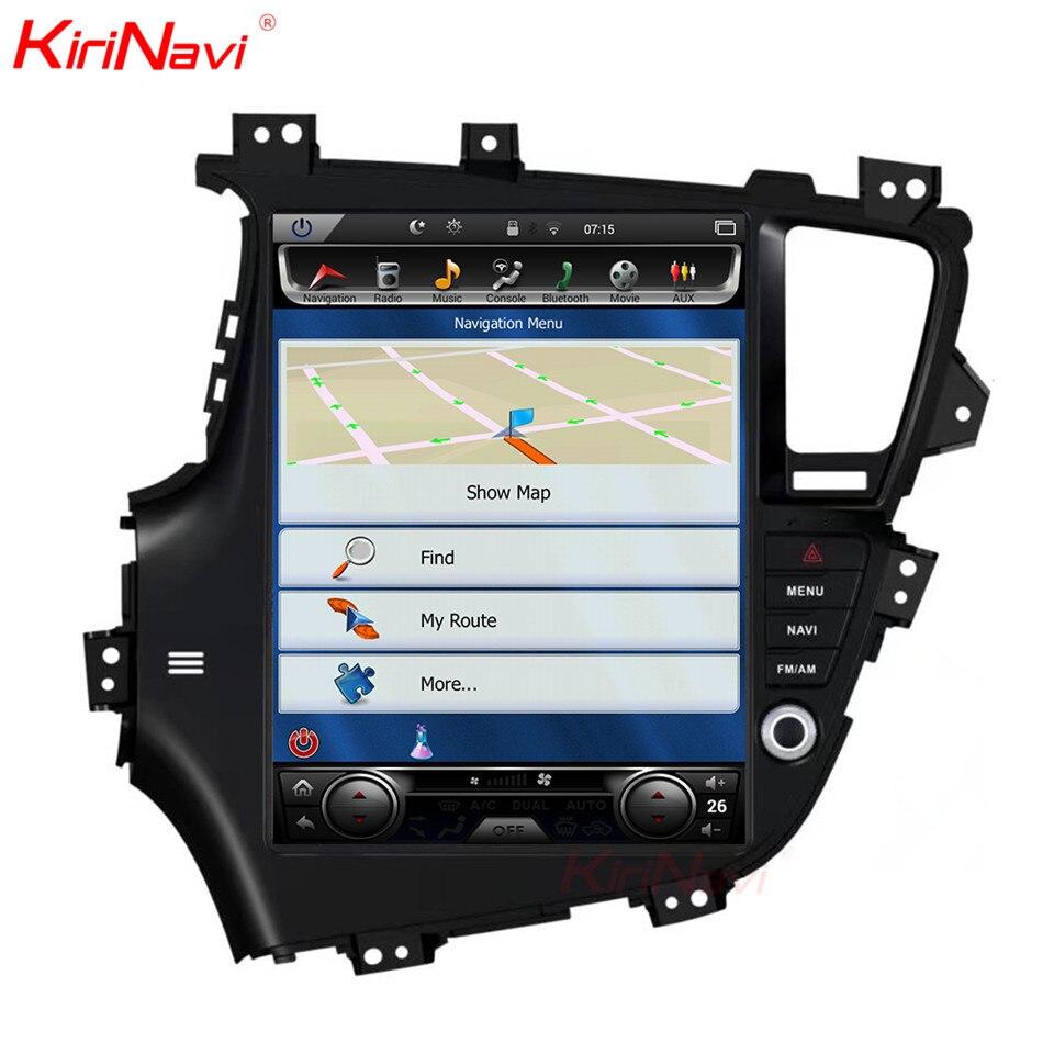 KiriNavi Vertical Écran Tesla Style Android 7.1 13 pouce Voiture GPS Navigation DVD Pour Kia K5 Optima Radio Seulement Fit conduite À gauche