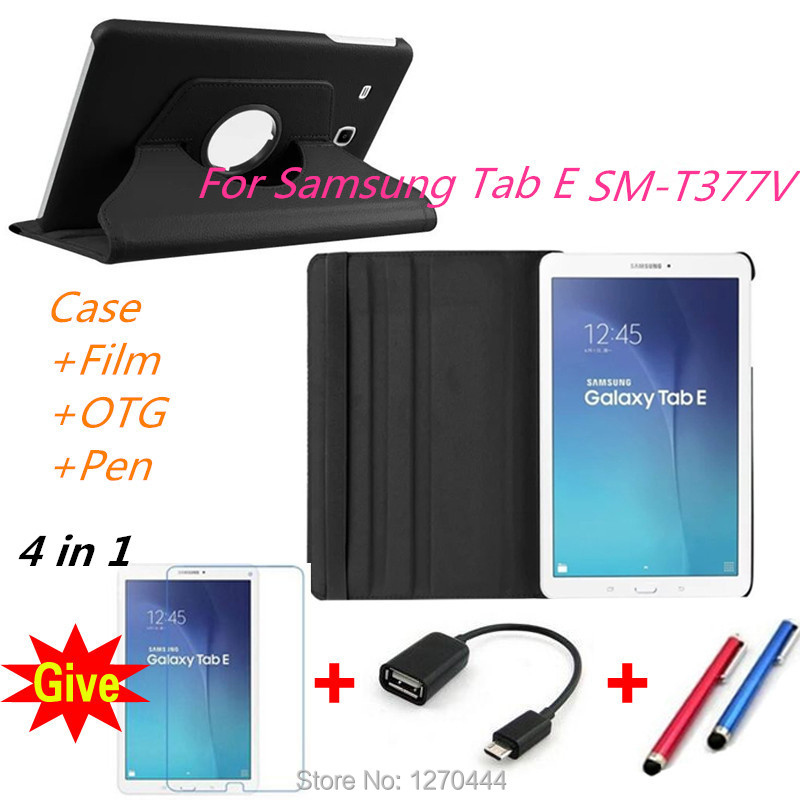 New Products 360 Rotating Litchi skin PU Leather cases flip stand tablets cover for Samsung Galaxy Tab E 8.0 T377 T377V SM-T375 2017 new products luxury 360 rotating flip leather stand cover tablet case for samsung galaxy tab e 9 6 t560 t561 case stylus