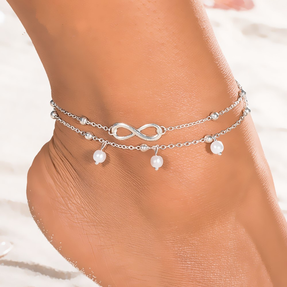 KISSWIFE 2018 New Hot 1PC Hot Summer Beach Ankle Infinite Foot Jewelry Anklets ankle bracelets for women
