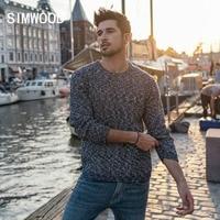 SIMWOOD смешанный кашемировый свитер для мужчин Heathered цвет Дизайн Весна Зима Новый свитеры для женщин теплый пуловер плюс размеры брендовая од...