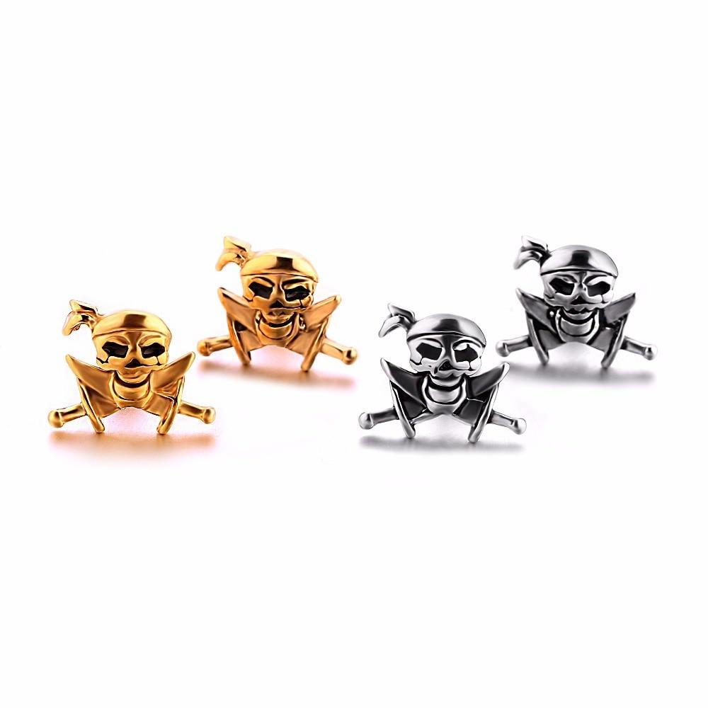 Skull Earring Stud Earrings for Man Woman Unisex Fashion Ear Piercing Jewelry 1 Pair Punk Ear Stud