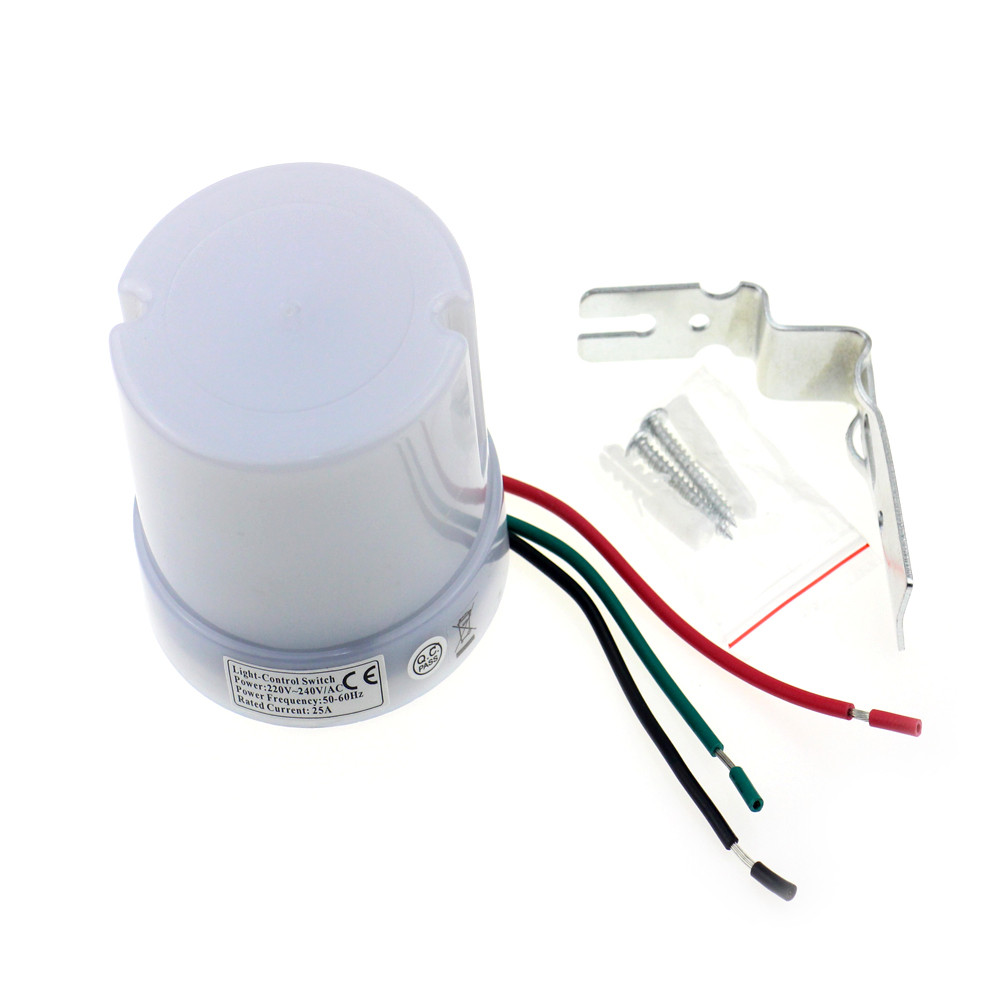 brand new 25a dusk till dawn automatic photocell light sensor electrical wiring multiple lights rc0114all2 rc0114all3 rc0114all4