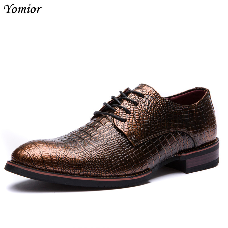Yomior Men Spring Formal Leather Shoes Business Casual Wedding Shoes Men Dress Office Luxury Footwear Fashion Breathable Oxfords men luxury crocodile style genuine leather shoes casual business office wedding dress point toe handmade brogue footwear oxfords page 2 page 5 page 5 page 3