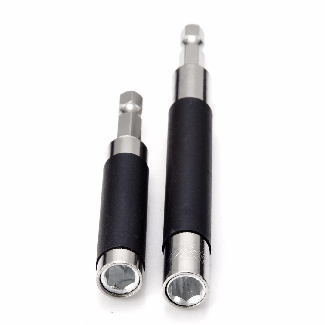 2pcs Extension Hex Screw Socket Magnetic Impact Driver Drill Bit Holder Adapter For Home Tools