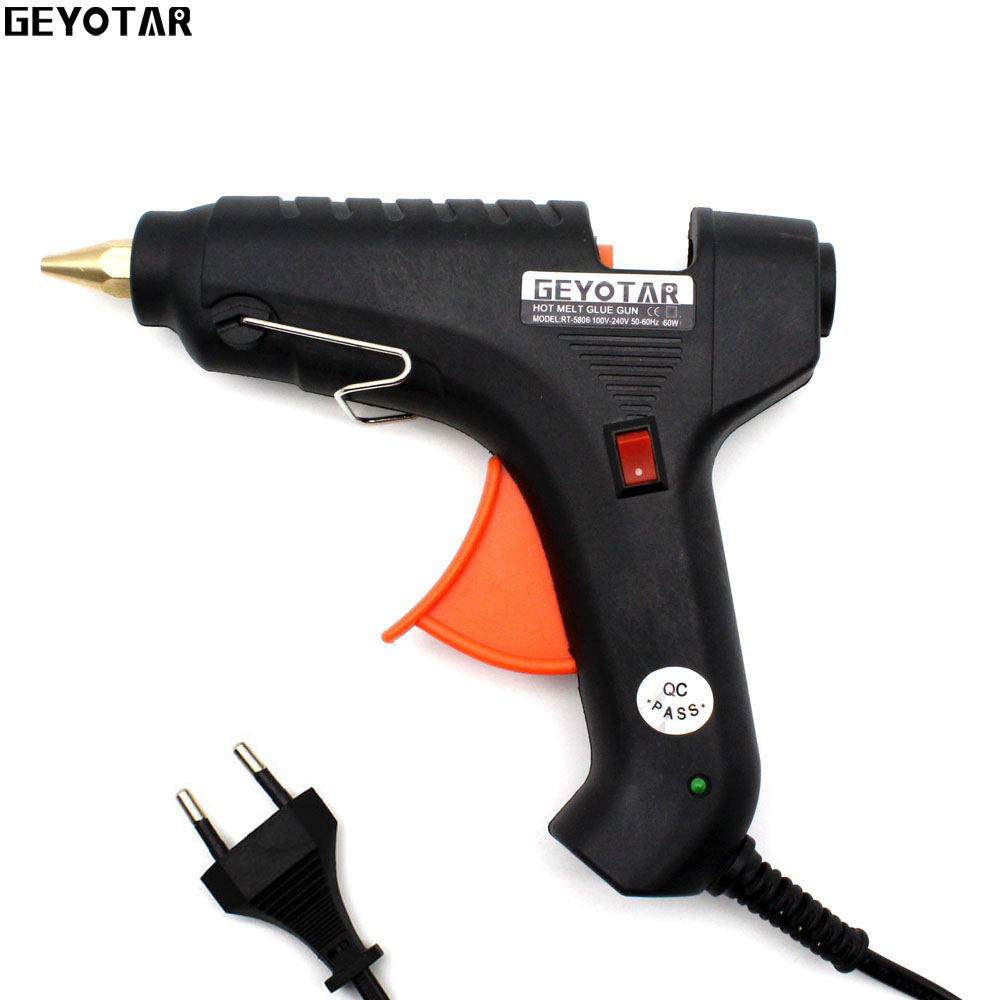 2017 New Sale Heat Gun 60w 110v 220v Professional Hot Melt Glue Gun Heating Craft Repair Tool With Free 1pcs 11mm Thermo Sticks best price mgehr1212 2 slot cutter external grooving tool holder turning tool no insert hot sale brand new