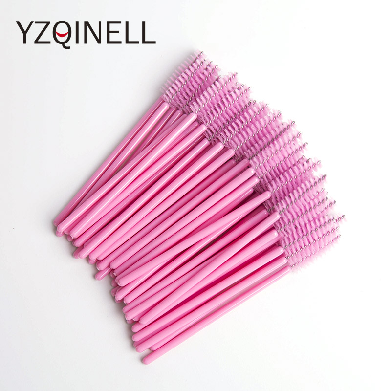 50pcs/Pack Disposable Mascara Wands Eyelash Brush Mascara Applicator For Eye Lashes Micro Makeup Brush Eyelash Extension Tools