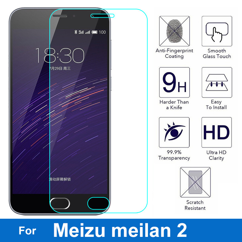 Screen-Protector Tempered-Protective-Glass-Film Meilan Mobile-Phone Mini Meizu M2