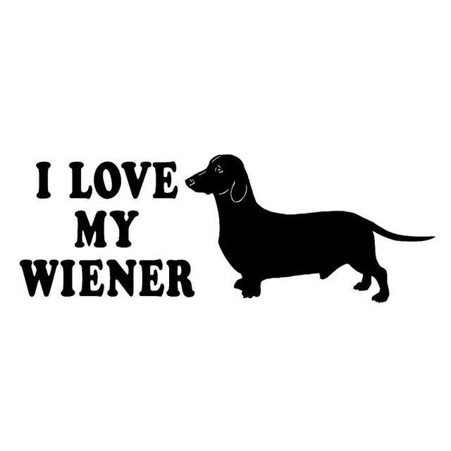 21 6 Cm 7 6 Cm Dackel Aufkleber Ich Liebe Meine Wiener Hund