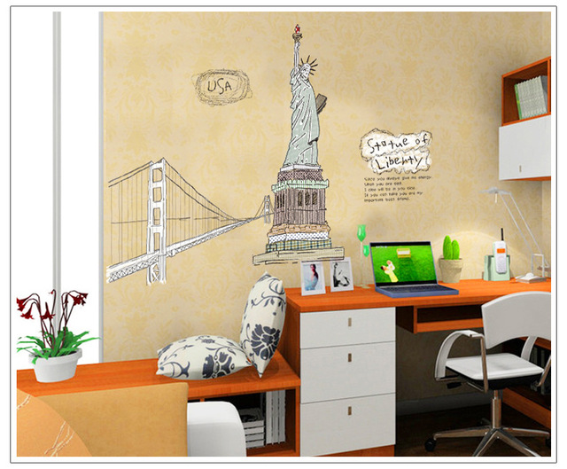 Free Goddess Living Room Bedroom Background Decorative Wall Stickers ...