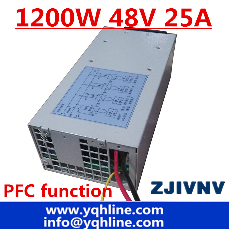 Customize Big power PFC function 1200w switching power supply 48vdc 25a SMPS big watt power supply ac-dc ac to dc smps pfc function 350w switching power supply 13 5v 25a led driver source switching power supply 13 5volt