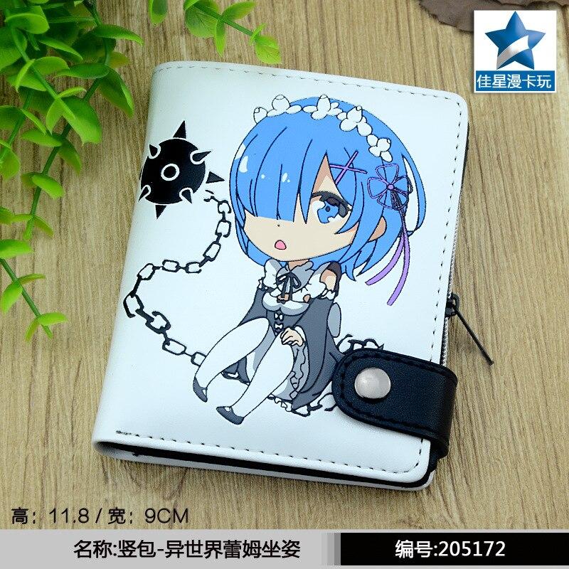 2017 anime wallet re zero kara hajimeru isekai seikatsu Wallets PU Cartoon white Rem purse short wallet AB413
