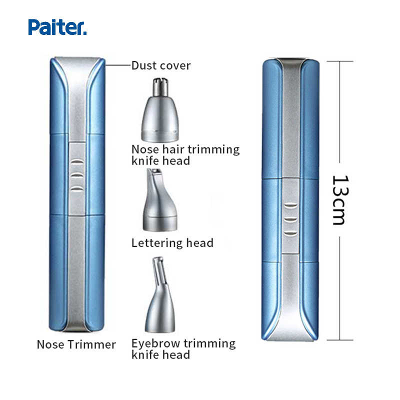 Paiter 3 で 1 鼻トリマー防水充電式ポータブルメンズ眉毛トリマー電気毛切断機