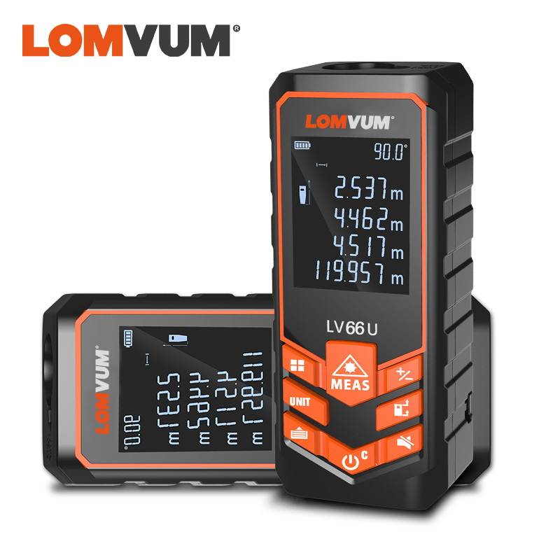 LOMVUM LV 66U Handhold Laser Rangefinder Digital Laser Distance Meter Electrical Level Tape Misuratore Laser Distance Measurer