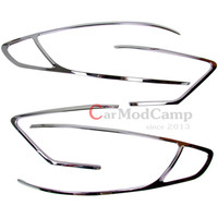 4pcs ABS Chrome Rear Tail Light Lamp Cover Trim For Ford Fusion 2013 2016 For Ford