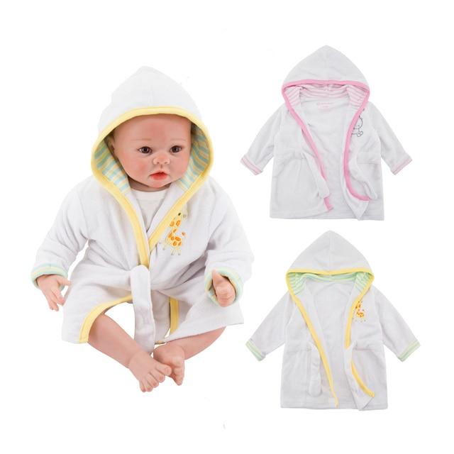 2018 Sleepwear Robes Hooded Pyjama Baby Sleep Gown Striped Pijamas Infantil  Roupao Bath Robe Kids Baby Girls Clothes Sleeper ffaa7e5fc