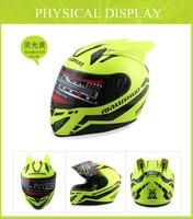 Malushun Motorcycle Helmet Automobile Race Antimist Full Four Seasons Personality Belt Helmet With Horn