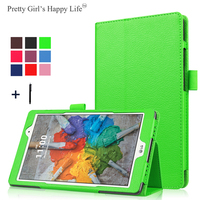 Pretty Girls Happy Life Case For LG G Pad 3 8.0 inch V525 Tablet Cover Magnetic Leather Coque Stand Capa Fundas Shell+Stylus