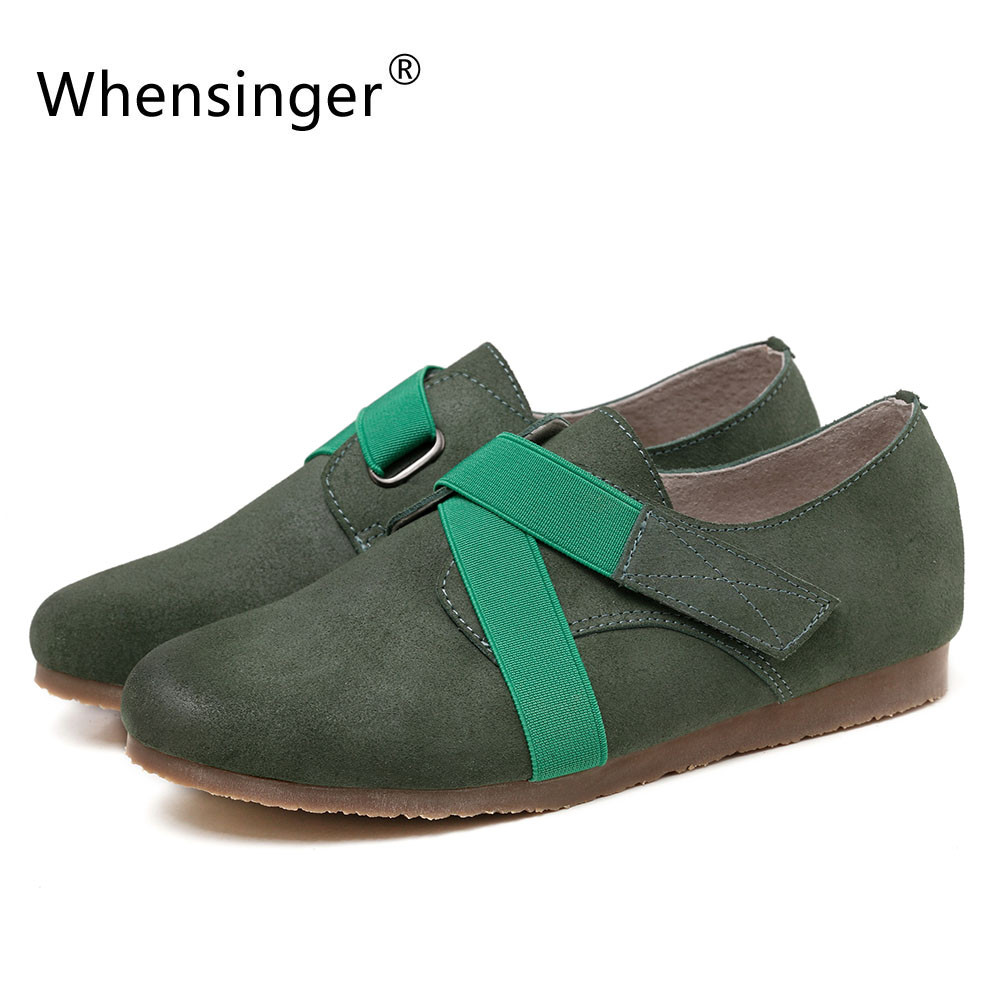 Whensinger 2017 New Woman Shoes Autumn Style Genuine