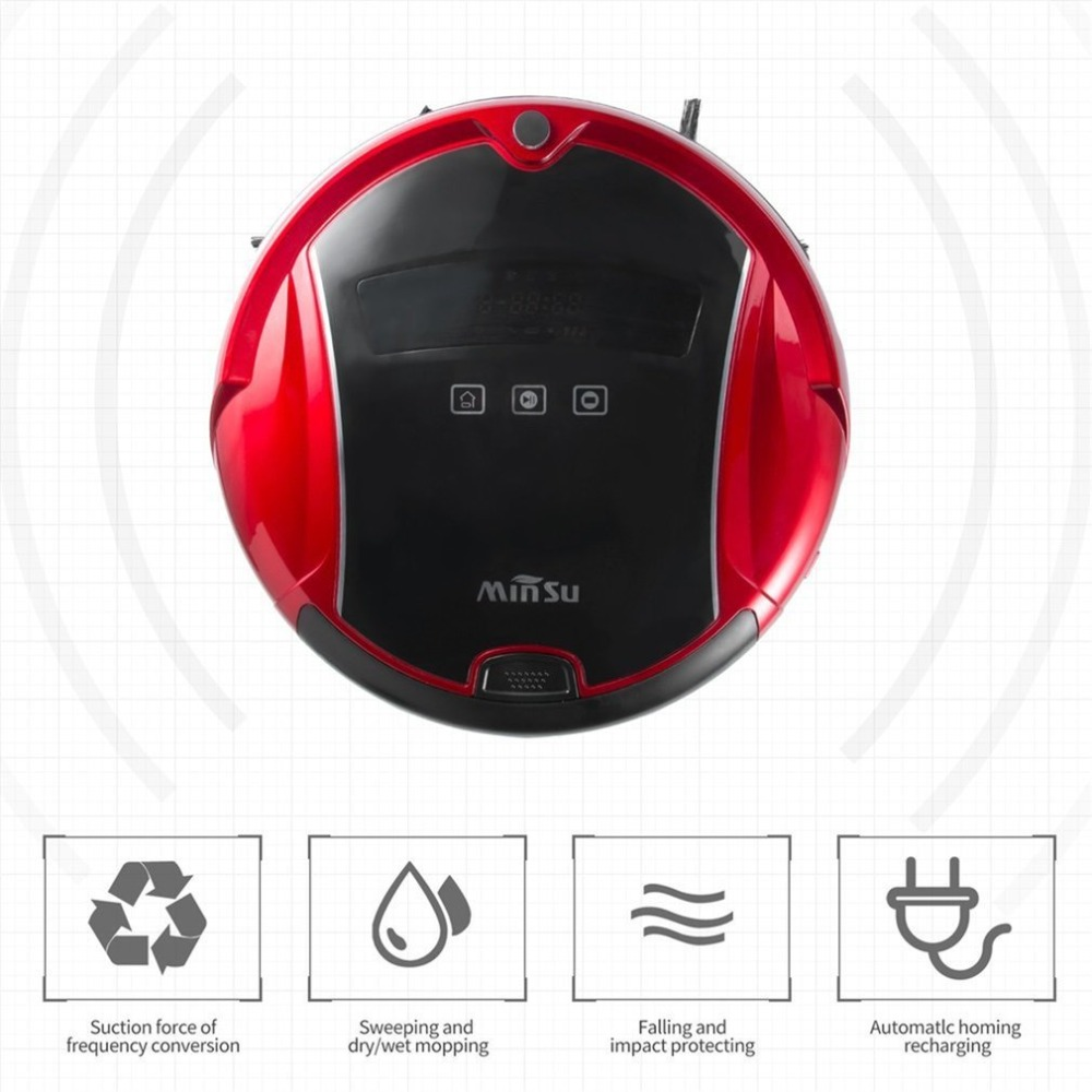 Family Automatic Smart Sweeping Robot Ultra Slim Sweep Floor Machine Intelligent Mute Vacuum Cleaner For Home Office swdk wipe mopping machine sweep floor robot home fully automatic wireless intelligent electric mop vacuum cleaner free shipping
