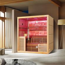 200*170*200 cm z drewna cedrowego suana pokój drewna litego sauna dla 5 osób używa M-6055 tanie tanio Pokoje sauny Z pawęży okna 4 osób Z litego drewna Sucha para Haisland Canadian cedar