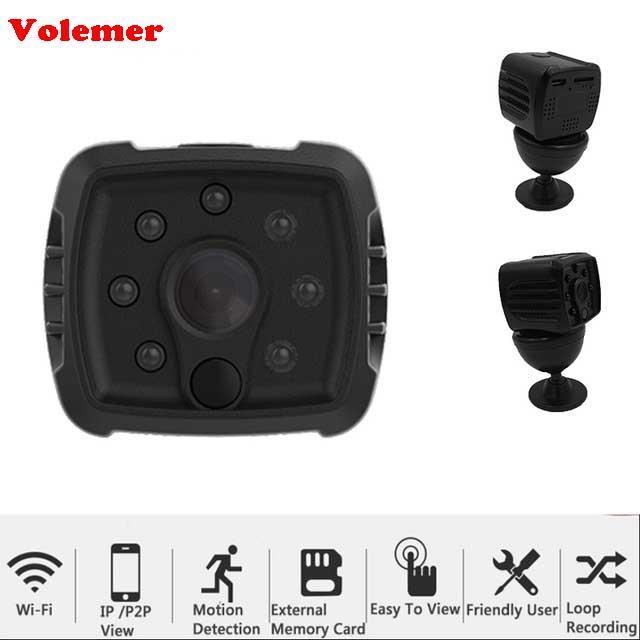 Mini Camera HD 1080P Home Wireless Network WIFI CCTV Cam IP P2P Remotely Monitoring Night Vision Cam action Wide Angle On PC APP mini wifi camera hd 264 720p 1080p night vision ir ip cam cctv p2p camcorder wide angle 140 deg remote security monitoring