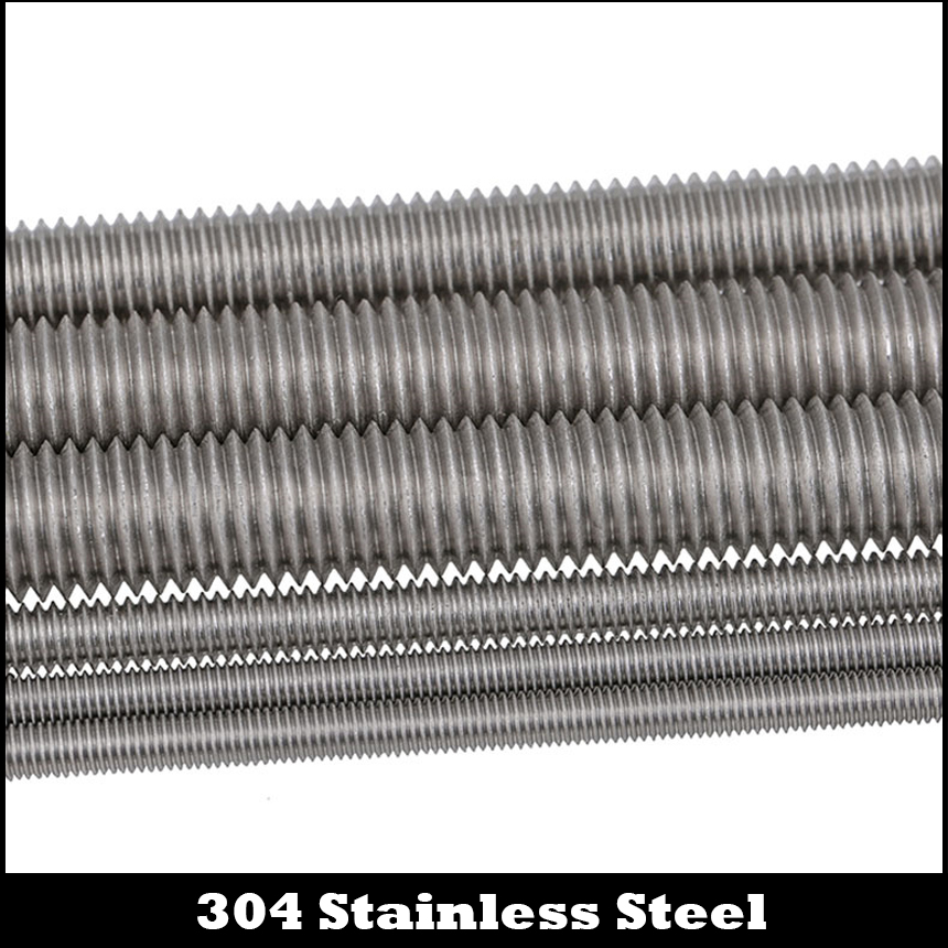 M4 M5 M6 M4*250 M4x250 M5*250 M5x250 M6*250 M6x250 304 Stainless Steel 304SS DIN975 Bolt Full Metric Thread Bar Studding Rod